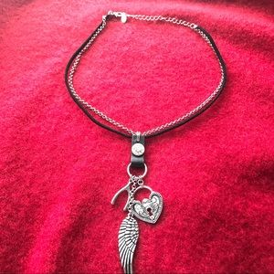 Cookie Lee Jewelry - NWOT Silver/Black Good Luck Charm Necklace